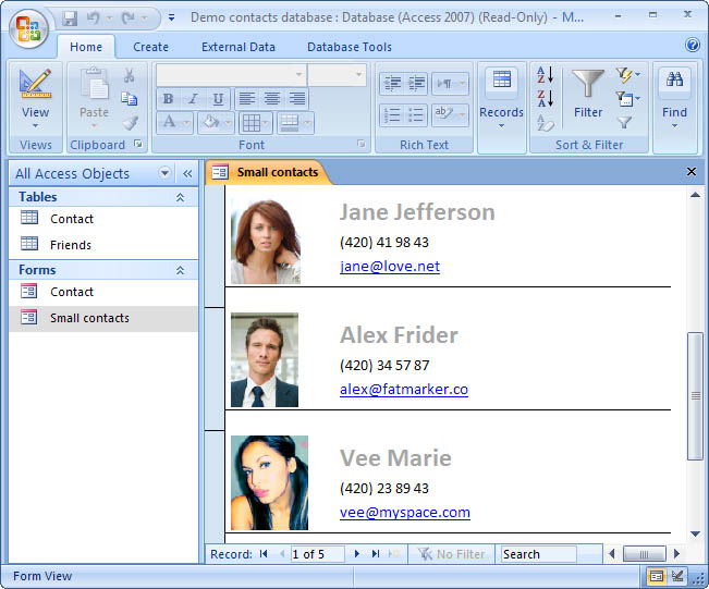 how to add picture in microsoft access form
